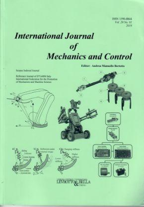 Immagine di INTERNATIONAL JOURNAL OF MECHANICS AND CONTROL VOL. 20 N.1